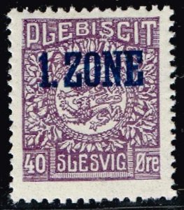 GERMANY STAMP PLEBISCIT 1.ZONE OVERPRINT SLESVIG  40øre MH/OG TYPE 9 VIII  $121