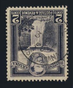 GUYANA / BRITISH GUIANA - 1950 - AIRMAIL SINGLE CIRCLE DS ON SG309