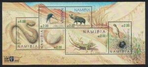 Namibia Birds Reptiles Hyena Wildlife of Namibian Dunes MS SG#MS867