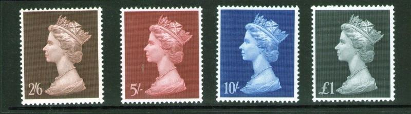 GB QEII 1969 SG787/790 to £1  Superb MNH condition.