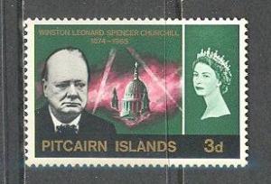 PITCAIRN ISLAND Sc# 57 MH FVF Winston Churchill