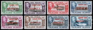 Falkland Islands - Graham Land Scott 2L1-2L8 (1944) Mint LH VF Complete Set M