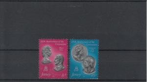 Jersey MNH 195-6 25th Anniversary Of Coronation Of QE II 1978