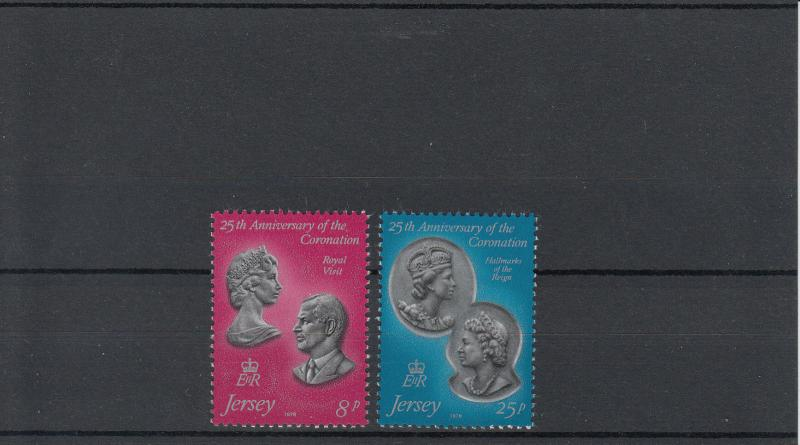 Jersey MNH 195-6 25th Anniversary Of Coronation QE II 1979