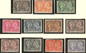 Canada 1897 Queen Vict. Jubilee Scott 50-60 short set MH