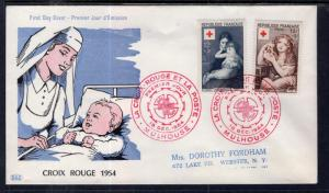France B291-B292 Red Cross Typed FDC
