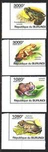 Burundi. 2011. 2062-65. Frogs, fauna. MNH.