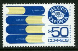 MEXICO Exporta 1133 $50P Books Fluor Paper 6 MINT, NH. VF.