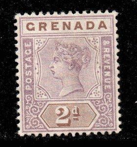 Grenada 1895 QV 2d mauve & brown SG 50 mint