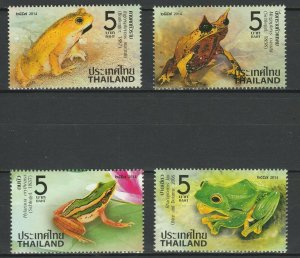 Thailand 2014 Fauna Frogs 4 MNH stamps