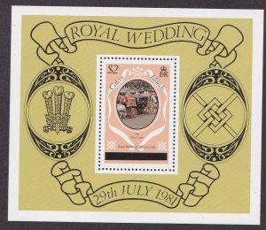 Caicos Islands # 11, Royal Wedding, Souvenir Sheet,  NH, 1/2 Cat.