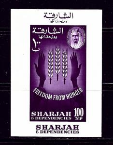 Sharjah 41 MNH 1963 Freedom from Hunger S/S