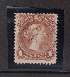 Canada #22 Used With Ideal May 29 1868 CDS Cancel
