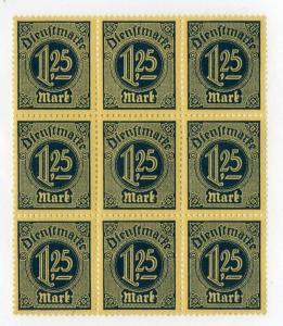 GERMANY O11 MNH BLOCK/9 BIN $1.75 OFFICIALS