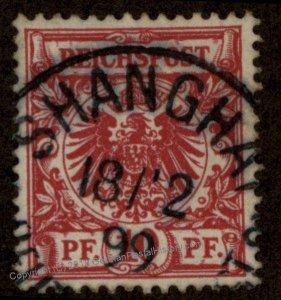 Germany 1899 China M47d SHANGHAI Forerunner Expertized 93184