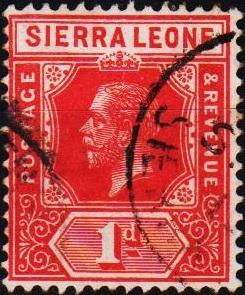 Sierra Leone. 1912 1d S.G.113 Fine Used