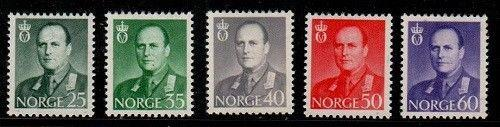 Norway Scott 408-12 Mint hinged (Catalog Value $33.75)