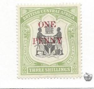 British Central Africa, 57, Surcharged Single,**Used**