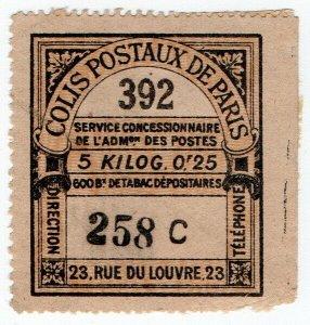 (I.B) France Local Post : Paris Parcel Delivery 5Kg (Colis Postaux)