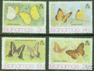 BAHAMAS Scott 370-3 MNH** Butterfly set