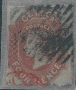 78521 - CEYLON - STAMPS: Stanley Gibbons #  4   Finely USED - small defects