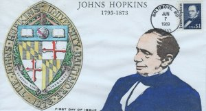 2194  $1 JOHNS HOPKINS -  Anagram Hand-Colored cachet