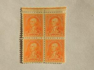 U. S. #711  Mint block of 4   OG  NH