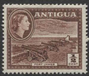 Antigua - Scott 107 - QEII Definitive -1953 - MVLH - Single 1/2p Stamp