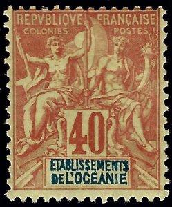 French Polynesia Sc#15 Mint OG hr F-VF SCV$132.50...French Polynesia is Hot!