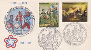 Paraguay  U.S. Bicentennial, First Day Cover