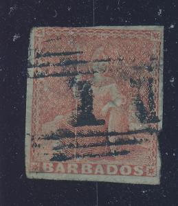 Barbados Stamp Scott #4, Used - Free U.S. Shipping, Free Worldwide Shipping O...