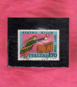 ITALIA REPUBBLICA ITALY REPUBLIC 1977 PIETRO MICCA III 3° CENTENARIO NASCITA...