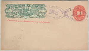 52234  - MEXICO -  POSTAL  HISTORY - STATIONERY  Cover: WELLS FARGO! Eagles