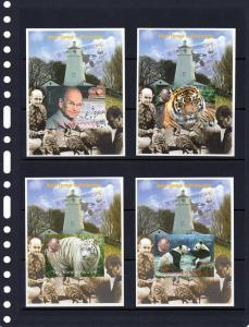 Sao Tome and Principe 2004  Peter Scott WWF founder-Pandas-Birds 9 SS Imp.MNH