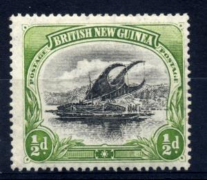 Papua 1901 sg 9 thick paper, 1/2d yellow green & blk. UM