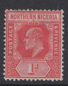 NORTHERN NIGERIA SG29 1910 1d CARMINE MTD MINT