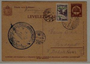 Hungary Zeppelin card 28.3.31 Debrecen