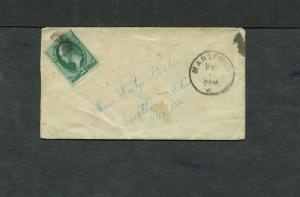 Postal History - Mansfield OH 1875 Black Cork Killer 3cBN Cancel Cover B0646
