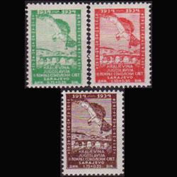 YUGOSLAVIA 1934 - Scott# B40-2 Eagle Set of 3 LH