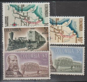 Colombia SC  748, C441-4  Mint Never Hinged