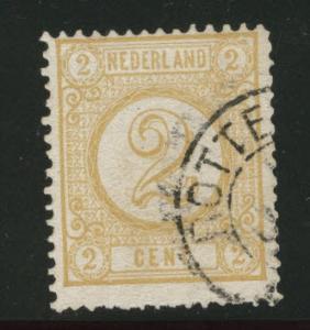 Netherlands Scott 36 nice 1894 2c Numeral CV$2.75