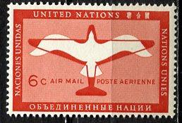 United Nations N.Y.; 1951: Sc. # C1: **/MNH Single Stamp