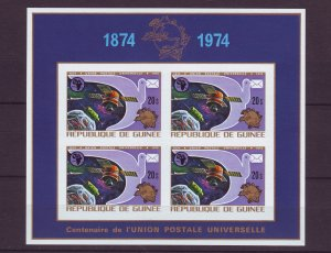 Z709 JLstamps 1974 guinea sheet of 4 mnh #677 upu