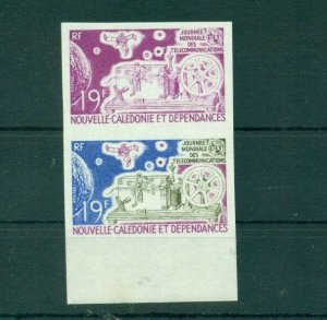 Space Telecom Science Physics New Caledonia MNH 2val trial colors proof