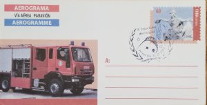 O) 2014 CUBA, CARIBBEAN, JUSTICE AND LIBERTY,FIRETRUCK,RESCUE,III PHILATEL