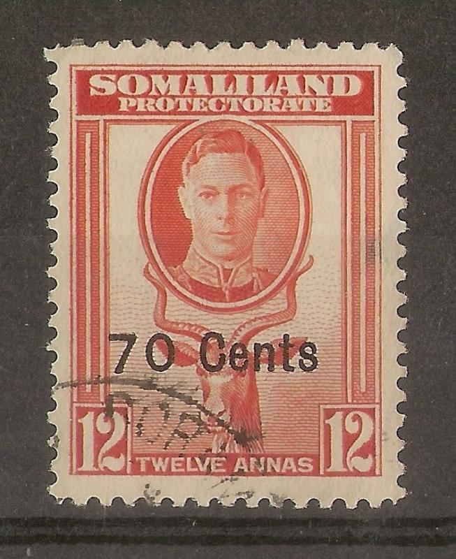 Somaliland 1951 70c on 12A SG131 Fine Used Cat£11