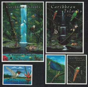 Dominica Birds Caribbean Fauna 10v+3 MSs SG#3117-MS3127