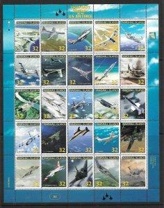 Marshall Islands 1997 legendary Aircraft Scott 641 Sheet of 25 NH