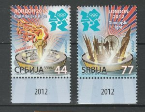Serbia 2012 Summer Olympic Games - London 2 MNH stamps