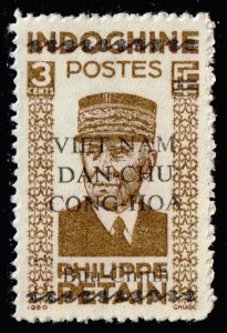 VIETNAM STAMP INDOCHINA OVPT 1945-46 Ho Chi Minh Period STAMP 3C
